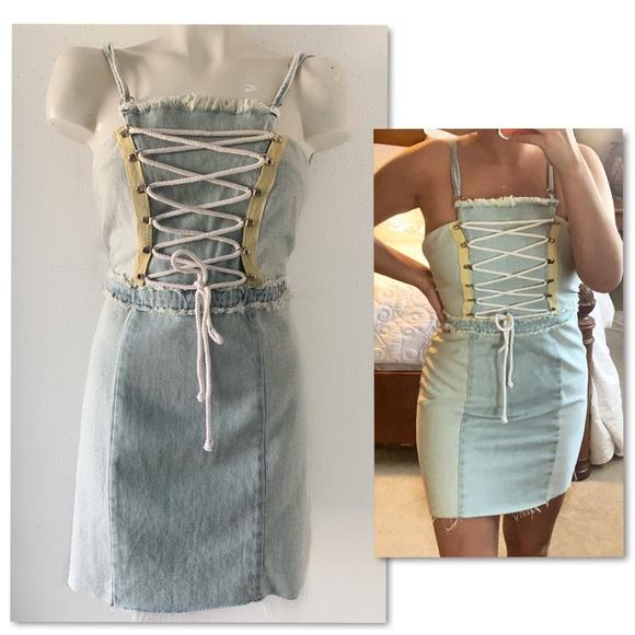 Jella Couture Dresses & Skirts - Jella C. Blue Jean club dress - party denim